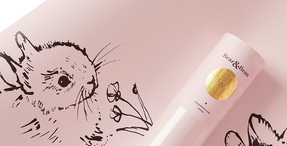 Sample Little Bunny Wallpaper - Pink