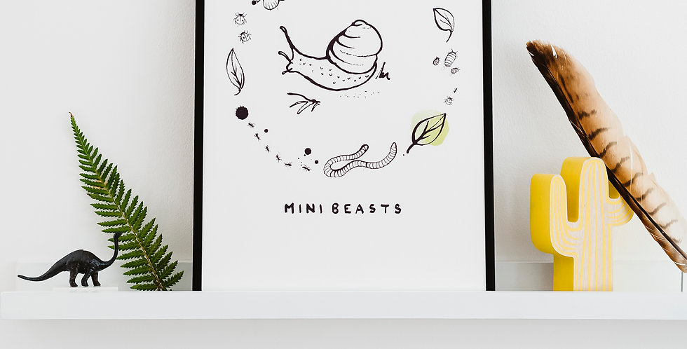 Mini Beasts - Art Print