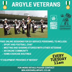 New Veterans programme from Argyle Community Trust