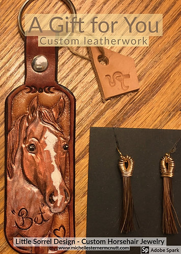 Gift Certificate - Custom leatherwork without horsehair tassel
