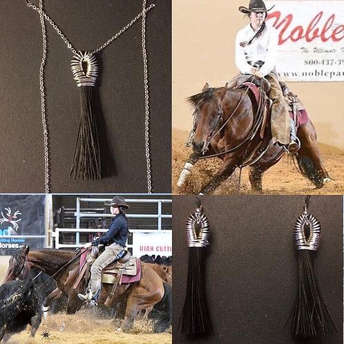 Tassel Necklace & Earrings Set