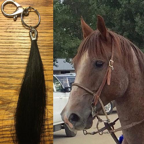 Horsehair tassel keychain