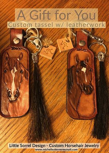 Gift Certificate - Custom leather work w/ horse hair tassel