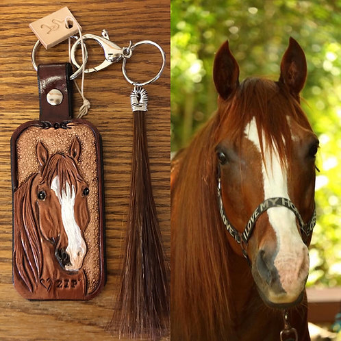Custom leather work w/ horse hair tassel