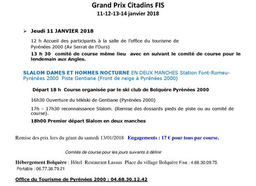 Programme FIS Cit 11-12-13-14 Janvier 2018