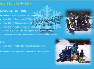 Bilan Sportif - Saison 2016 - 2017