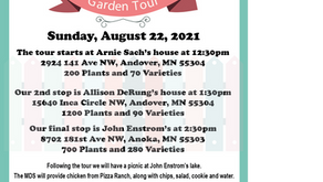 Save the Date!! MDS Garden Tour on Aug. 22nd, 2021