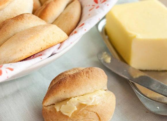 Buttery Parkerhouse Dinner Rolls Honey and Grains Bakery Springville Utah
