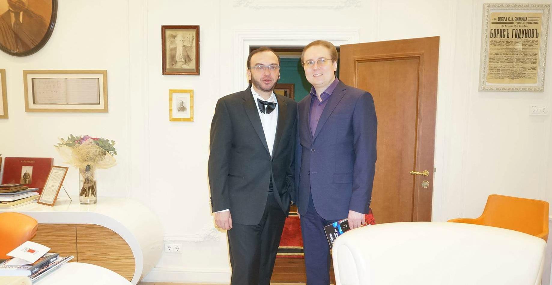 С Дмитрием Бертманом (Геликон опера)