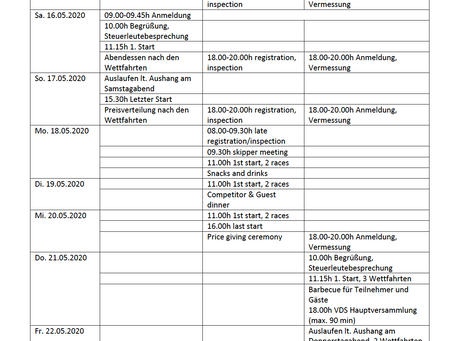 Update vorläufiges Programm/ provisional program