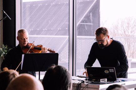 There Are No More Four Seasons - George Kentros, Mattias Petersson (Sweden), 4 May 2019, Estonian Academy of Arts, Estonian Music Days & ISCM World Music Days Festival 2019 Tallinn  photo: Karin-Liis Tambaum