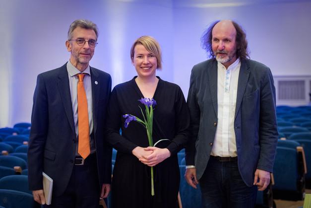 Age Veeroos with Erkki - Sven Tüür & Toivo Tulev - 13 April 2018 Estonia Concert Hall  photo: Rene Jakobson