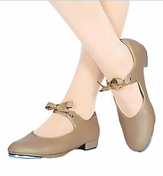 k-5 low heel tan tap shoe.webp