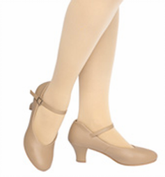 tan tap shoe reg or t strap max 3 inches