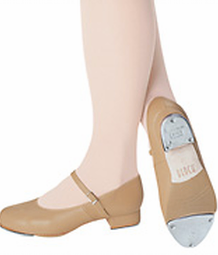 tan buckled tap show max heel 1 and half