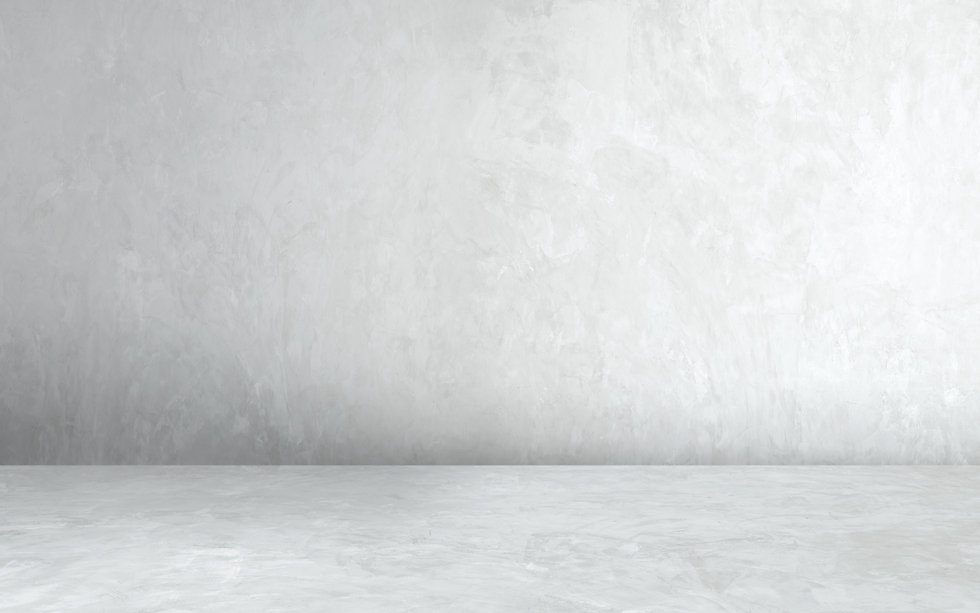 Room empty of cement floor with gray roo