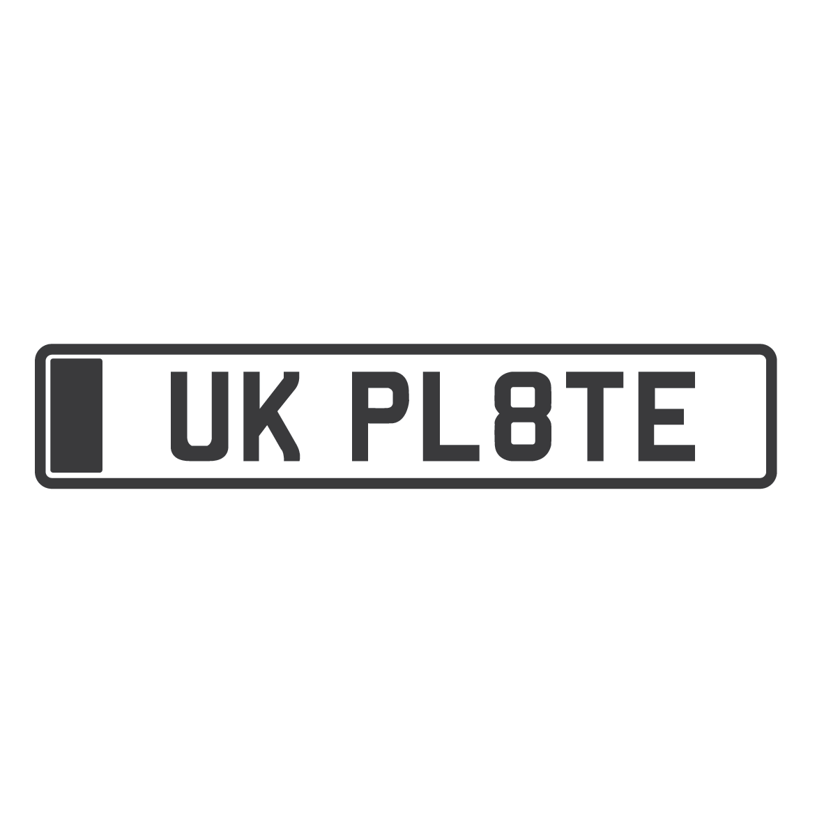 Front & Rear Numberplates