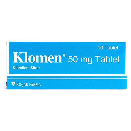 Klomen Clomiphene citrate 50mg 10 Tablet