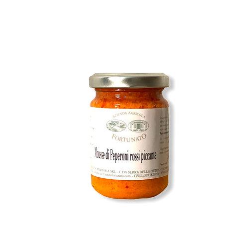 Mousse peperoni rossi piccante