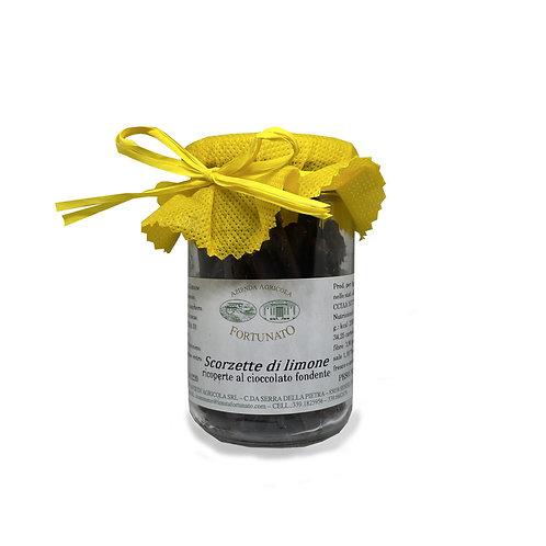 Scorzette di Limone al cioccolato fondente - 150gr.