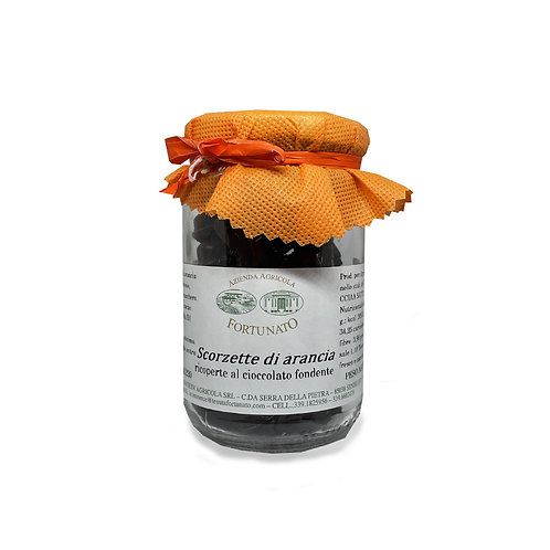 Scorzette d'Arancia al cioccolato fondente - 150gr.