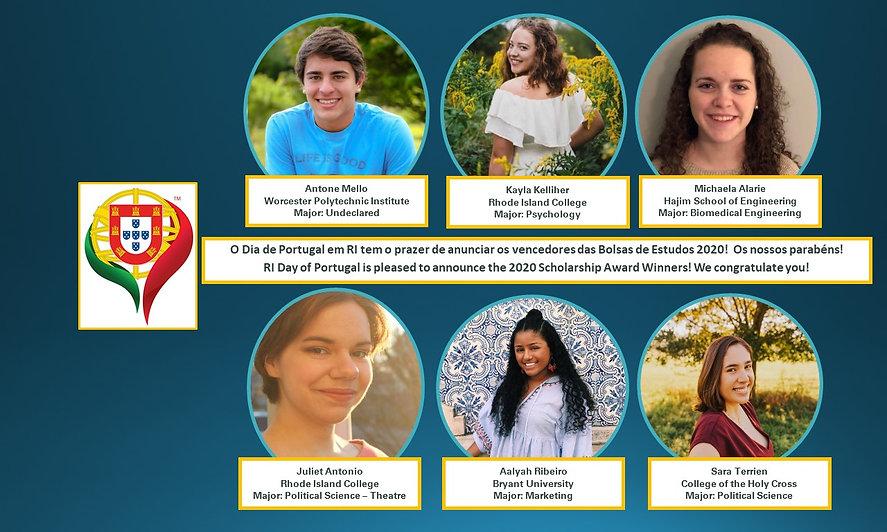 RI DoP Scholarship Winners 2021 - Update