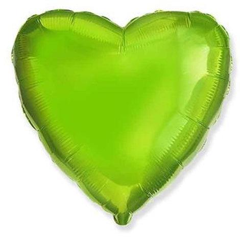 Сердце салатовое 18д (45см.)