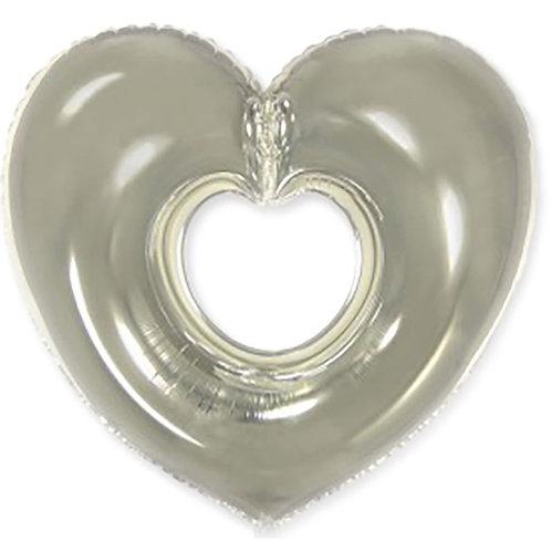 Сердце фигурное серебро