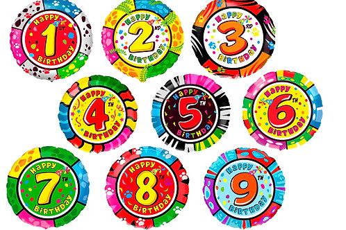 Круги с цифрой от 1 до 9