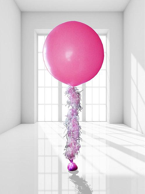 Гелиевый шар 36д (90см) с кисточкой
