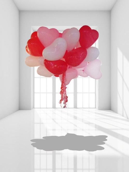 Гелиевые сердца 10д (25см)