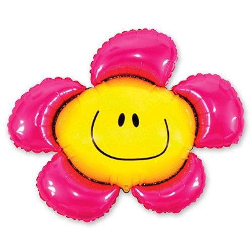 Цветок смайлик