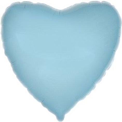 Сердце голубое 18д (45см.)