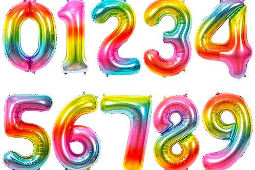 Радужные цифры 85см