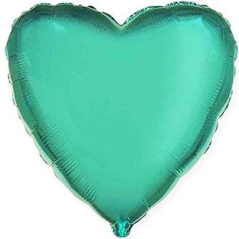 Сердце бирюзовоя 18д (45см.)