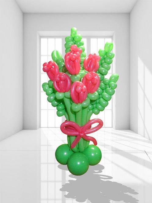 Воздушный букет роз