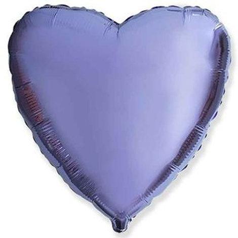 Сердце лавандовое 18д (45см.)