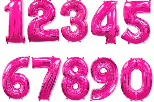 Малиновые цифры 85см