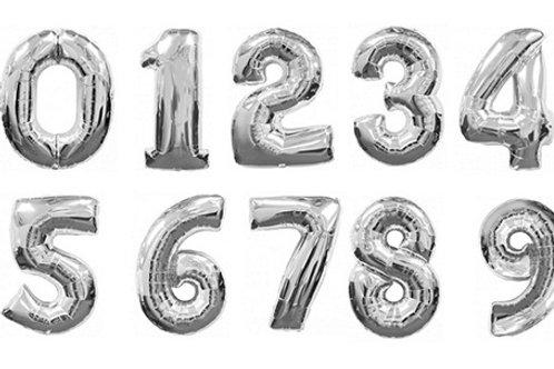 Серебряные цифры 85см