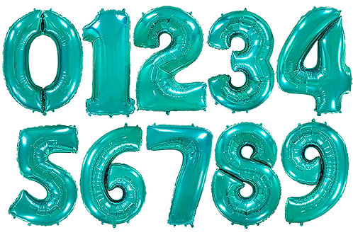 Бирюзовые цифры 85см