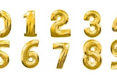 Золотые цифры 85см