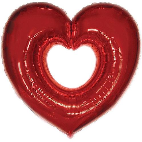 Сердце фигурное красное