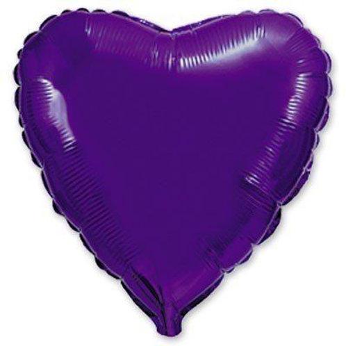 Сердце фиолетовое 18д (45см.)
