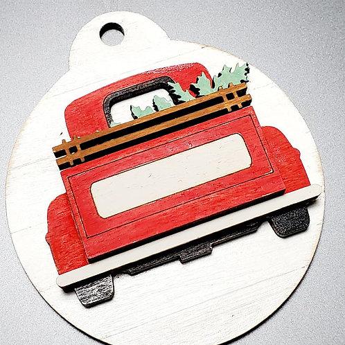 Farm truck ornament