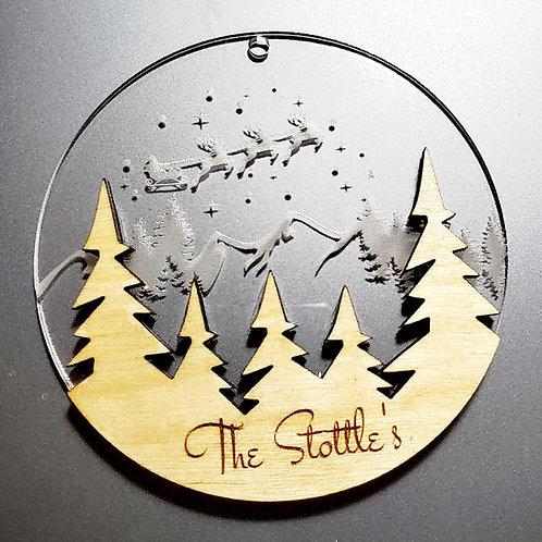 Winter Scene ornament