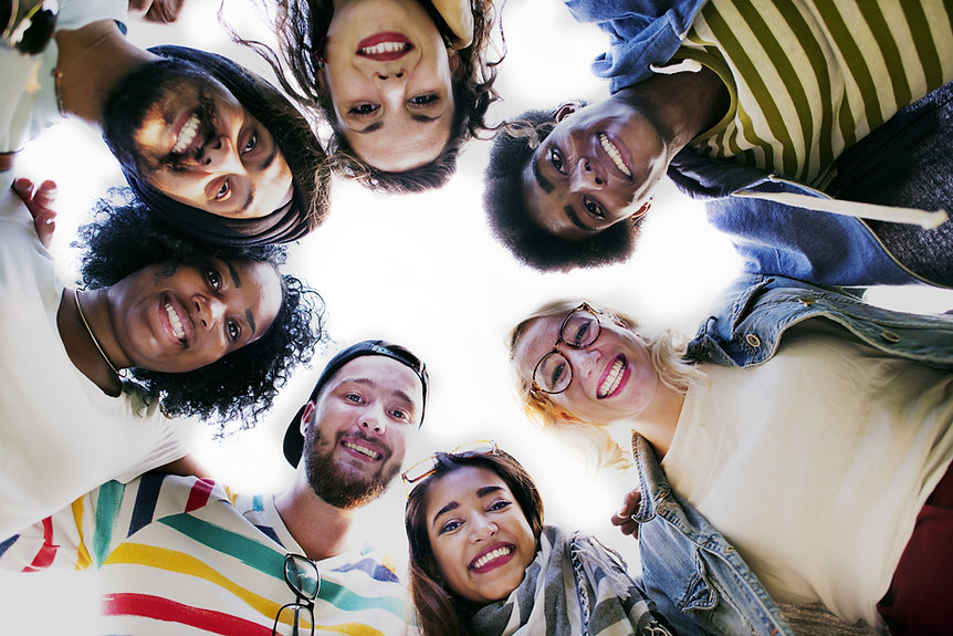 Group Students Smilling
