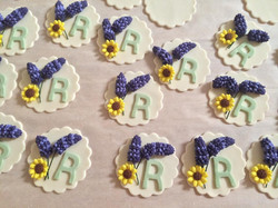 Custom Cupcake Toppers for a Bridal Shower