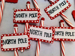 North Pole Cupcake Toppers