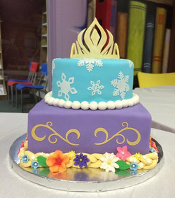 Frozen and Rapunzel Themed Cake