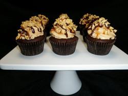 Chocolate Caramel Peanut Cupcakes